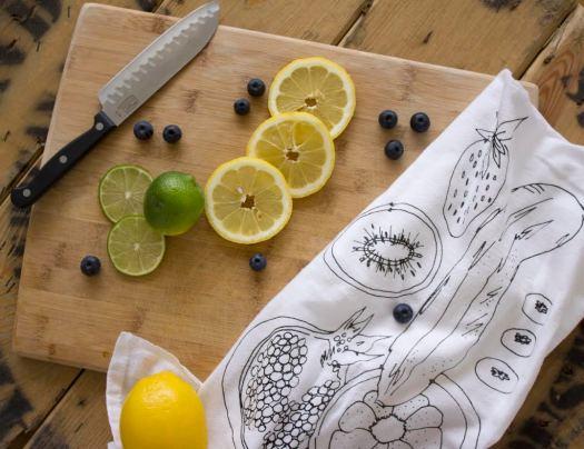fruit tea towel 1