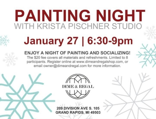 January 2017 Painting Night Feature on GR Guide Highlight